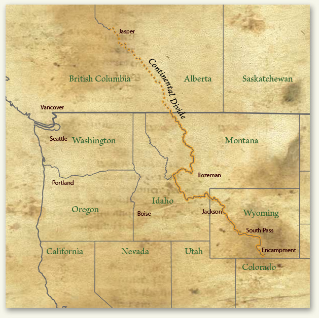 Cdt Colorado Map.Continental Divide Trail Journal Trail Map